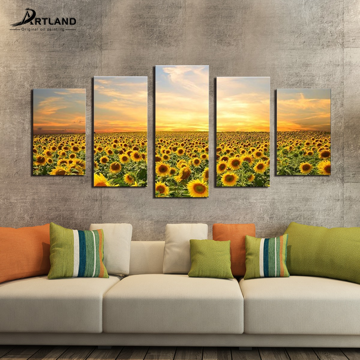 Large Canvas Prints Sunflower Picture Painting Wall Art for Home ...