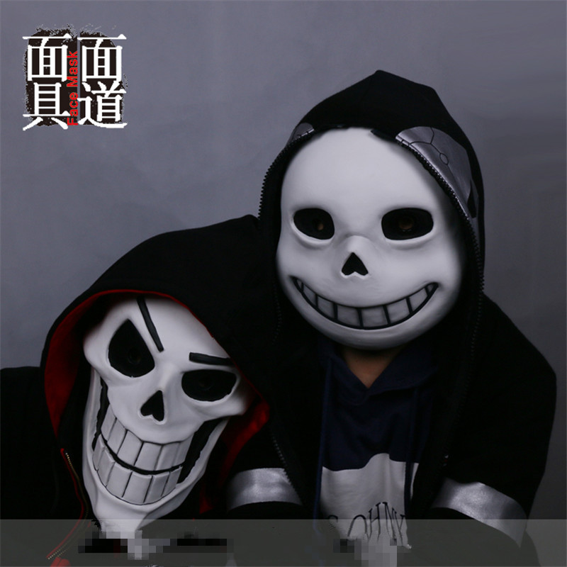 Undertale Sans Papyrus Mask Anime Cosplay Latex Blue Eyes Mask Halloween Helmet Ebay