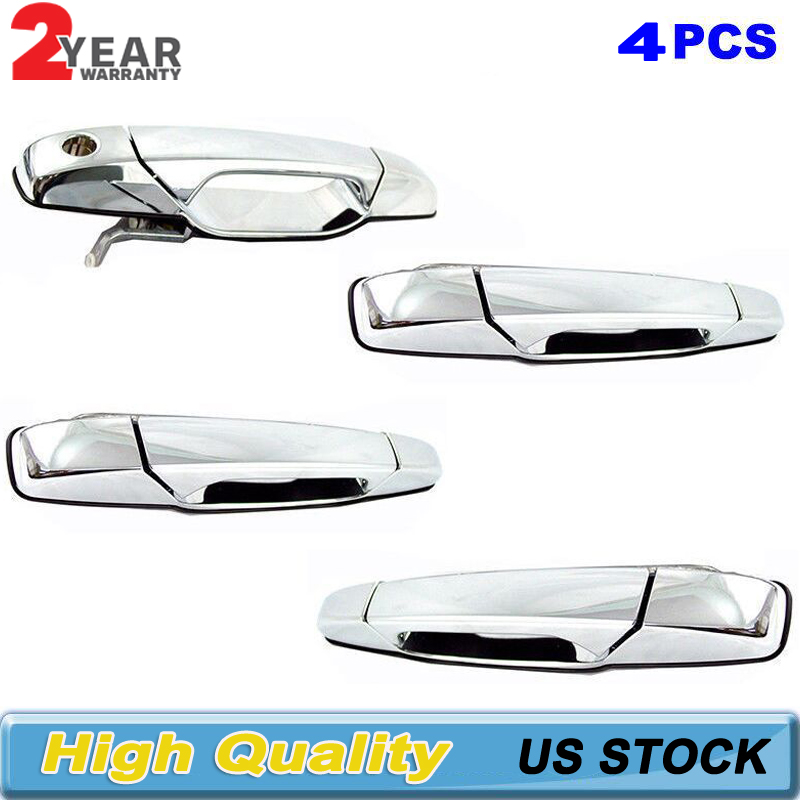 Rear Left Driver Side Outside Chrome Door Handle Fit 07-13 Chevy GMC Cadillac