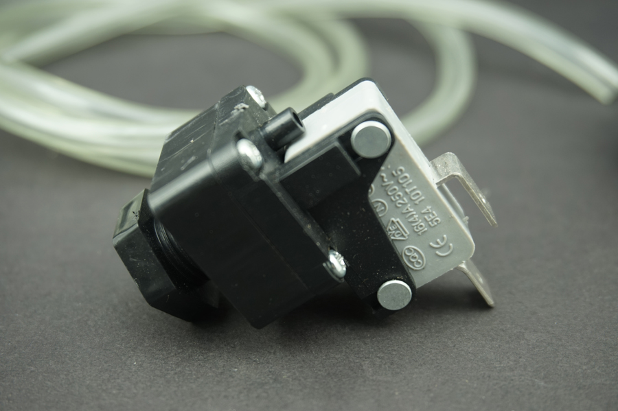 Waste Disposal Air Pressure Switch Button /& 1m Air Hose /& Self-Lock for GE Waste