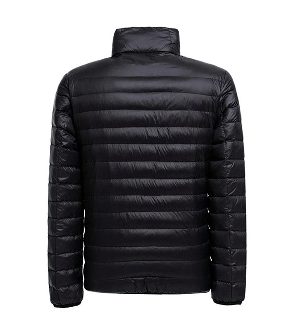 Men-039-s-Packable-Down-Jacket-Ultralight-Water-Repellent-Stand-Collar-Puffer-Coat