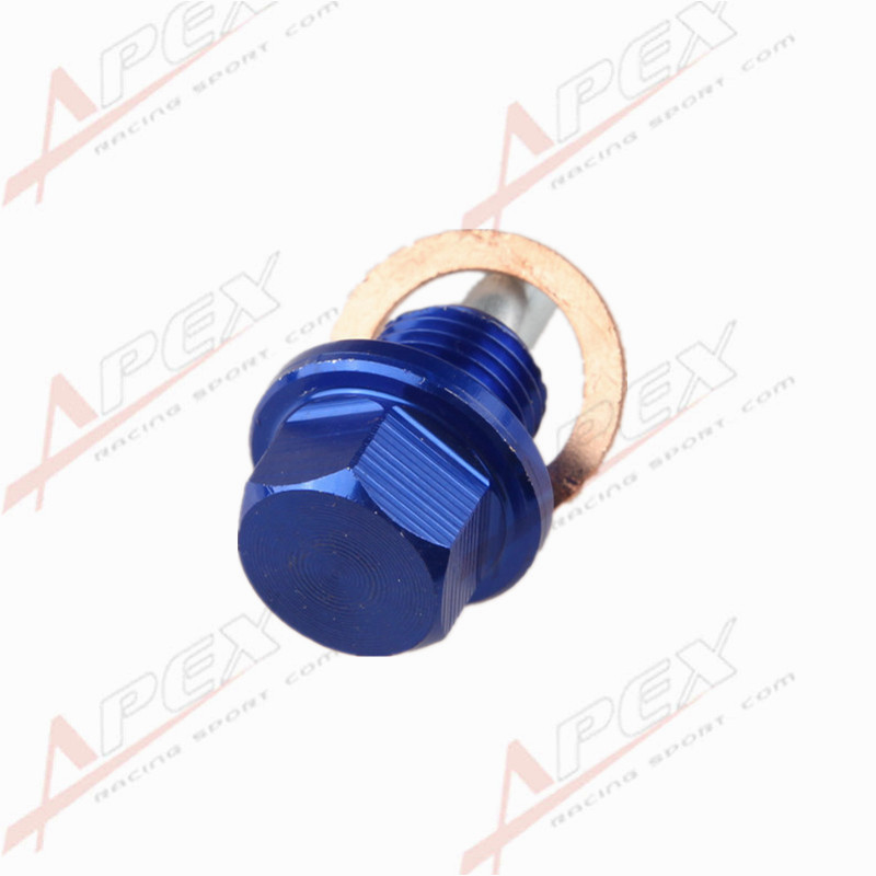 BLUE Anodized Engine Magnetic Oil Pan Drain Plug Bolt Crush Washer M14 x 1.5