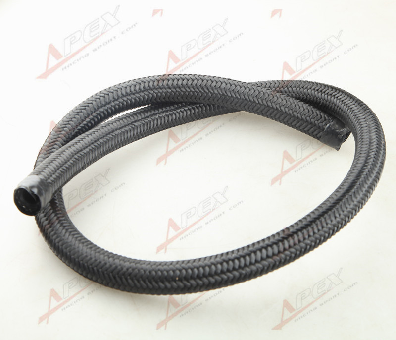 3.3FT 16AN AN16 Oil Fuel Gas Line Hose 1M Black Nylon Cover Braided 1500 PSI