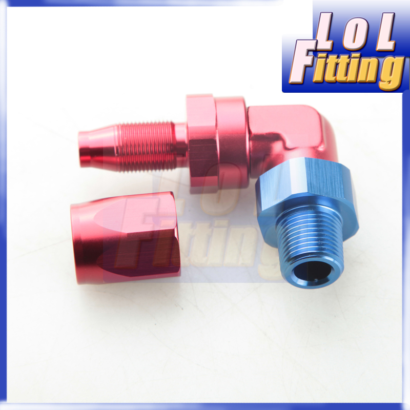 Female 6AN AN6 To 3//8 Barb Straight Swivel Hose Fitting Aluminum Hose Barb Fuel Line Adapter Blue Anodized