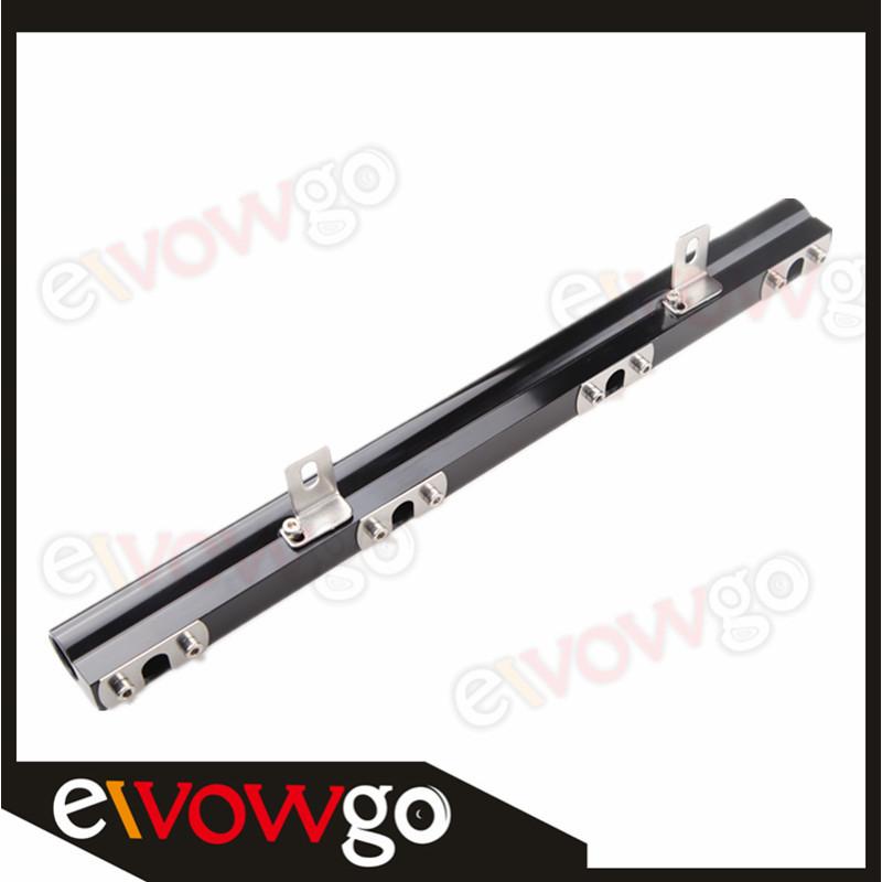 940 High Flow CNC Billet Aluminum Alloy Fuel Rail Blue For Volvo 240 740