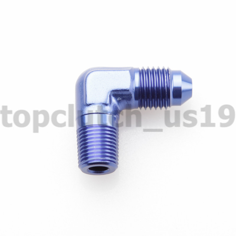 Blue Aluminum 90 Degree Elbow AN6 Male To 1//2 NPT Male Fitting
