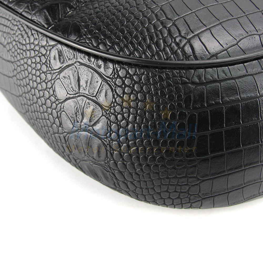 Saddle Cafe Racer Vintage Seat Alligator Style Leather For Suzuki GS Honda CB CL