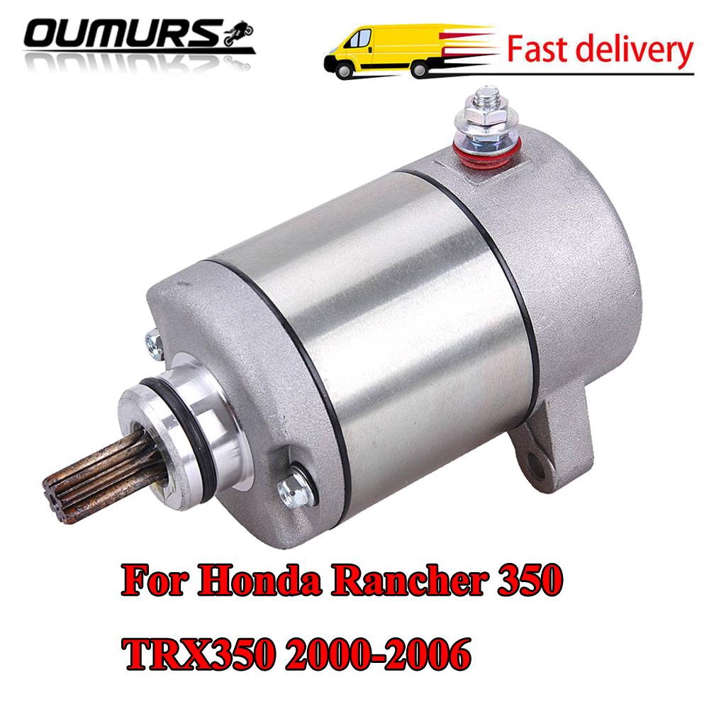 New Starter for Honda TRX350FM Rancher 350 2000 2001 2002 2003 2004 2005 2006