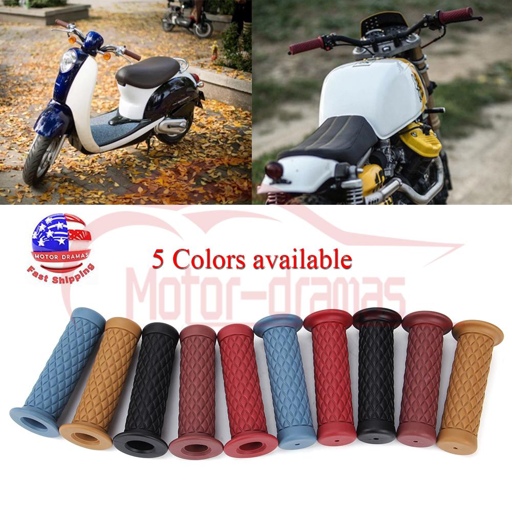 """2X 7//8/"""" 22mm Motorcycle Handlebar Hand Grip Bar End For Bike Cafe Racer Bobber"""