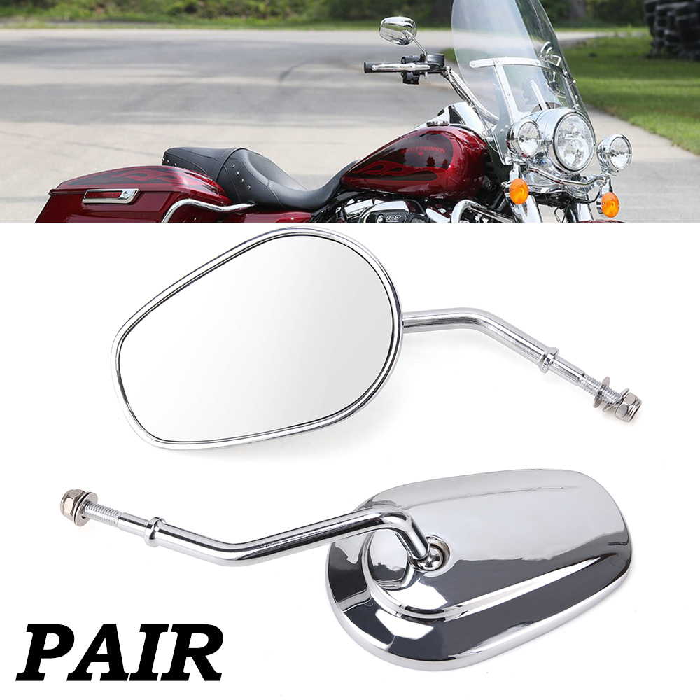 XL883/Rear-View Mirrors Chrome Side Mirrors Black Carbon Approved Moto Motorcycle Mirror Mirror for Sportster xl-883/XL1200L Dyna Road King Fatboy Touring Softail Electra Glide 1984/ /2017 Black