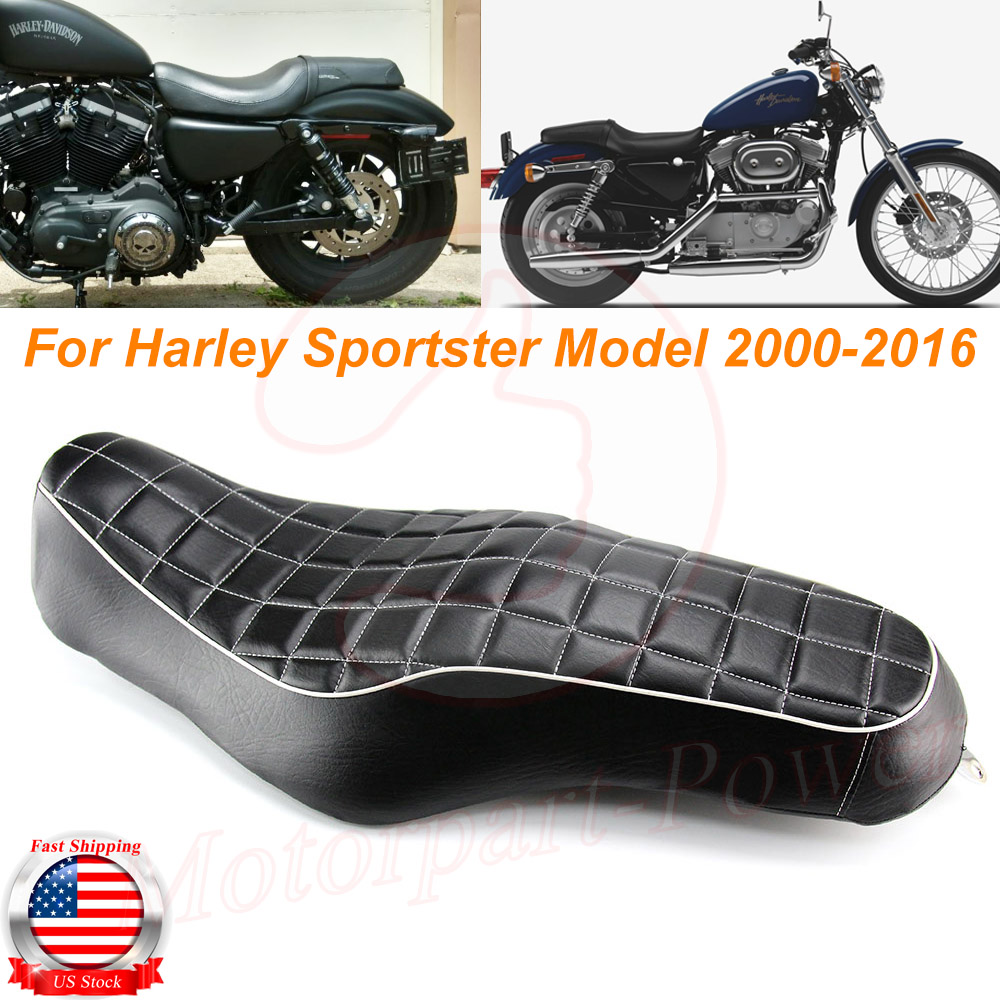 Stitched Two 2-up Front Rear Driver Passenger Seat For Harley Forty Eight XL1200