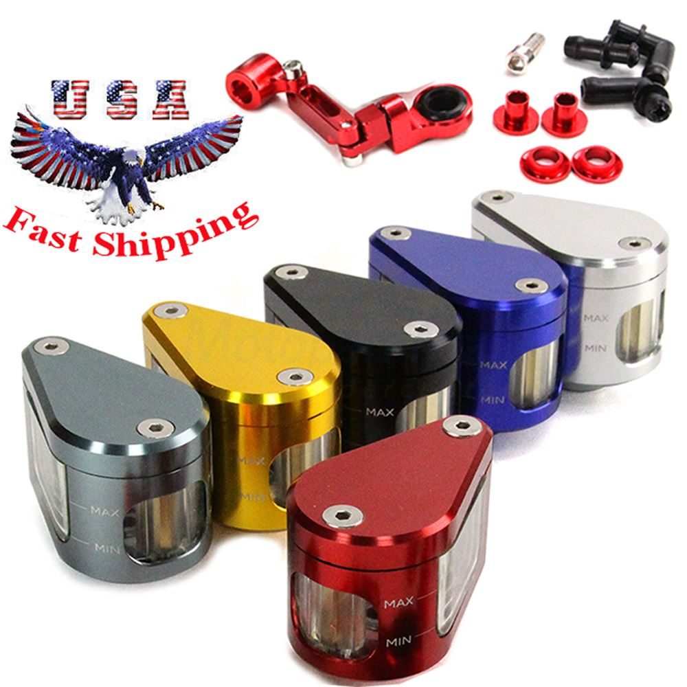 Black CNC Machined Brake Clutch Motorcycle Racing Master Cylinder Fluid Reservoir Tank Oil Cup For Yamaha YZF R6 1999 2000 2001 2002 2003 2004