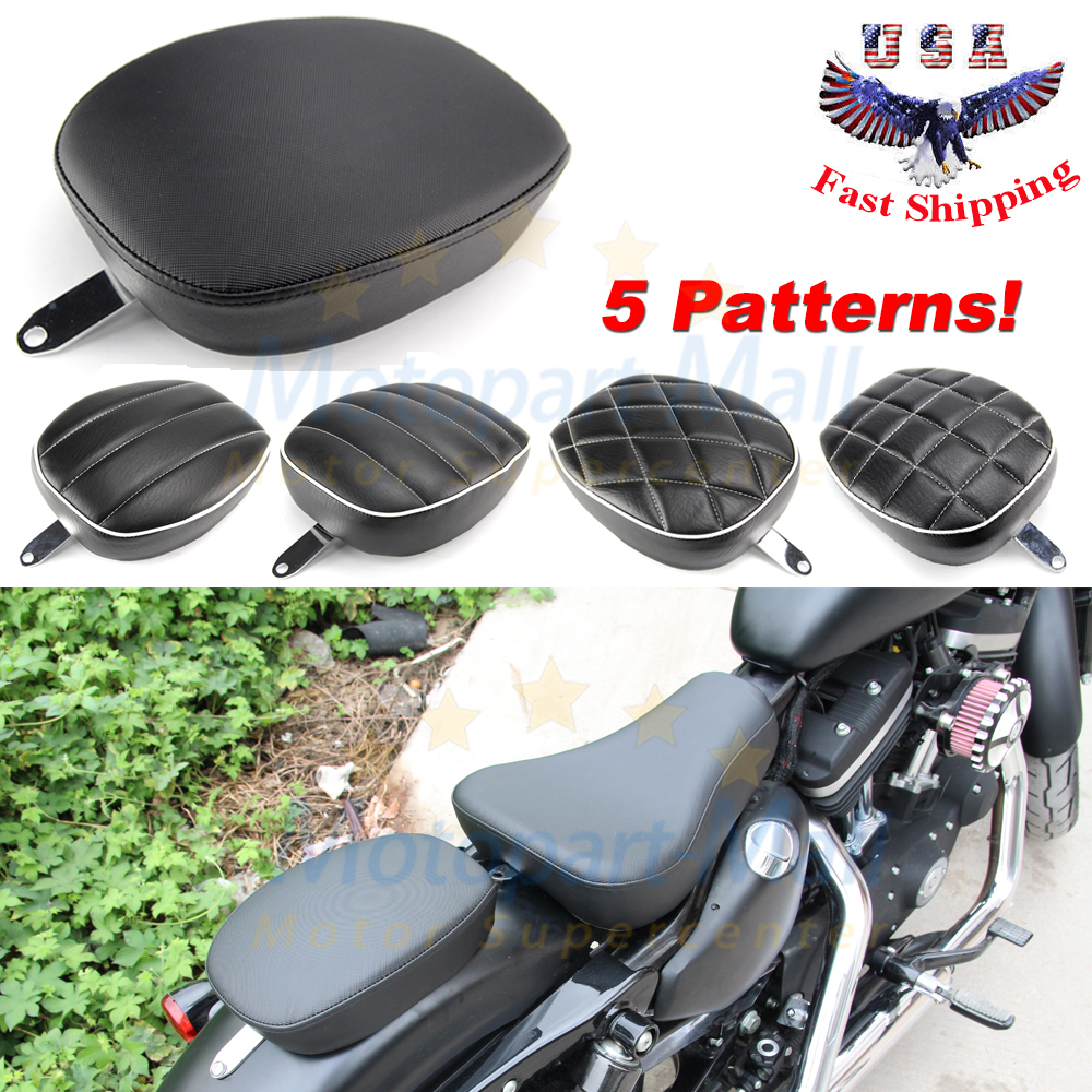 2pcs Driver Solo Seat Rear Passenger Pad for Harley Sportster XL1200 883 72 48