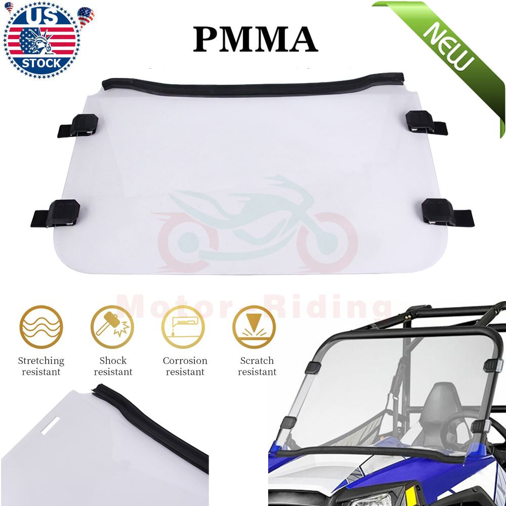 Polaris RZR 570 800 800 S RZR 4 900 XP Clear Full Windshield A Full 1//4 THICK