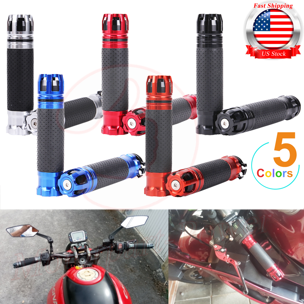 1 Pair 7//8 Inch 22mm Motorcycle Throttle CNC Aluminum Alloy Rotatable Handlebar Hand Grips Durable and Useful