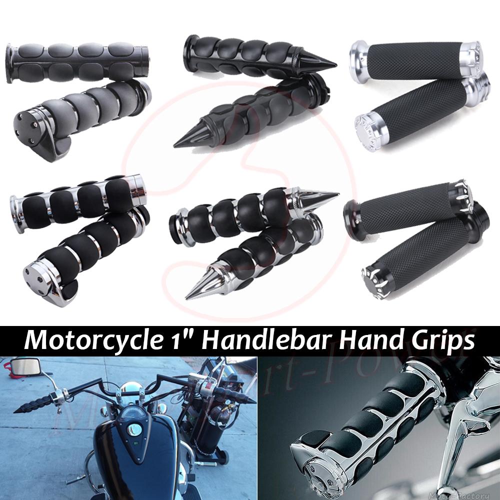 2pcs 1/'/' Motorcycle Handle Bar End Hand Grips For Yamaha Suzuki Harley Honda New