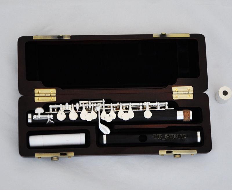 Professional Ebony Wooden Piccolo Flute C Key Split E With Case Moderate Price Wind & Woodwind