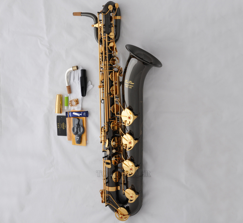 Details about Professional Black Nickel TaiShan Baritone Saxophone Eb Sax  Low A High F# 2 Neck