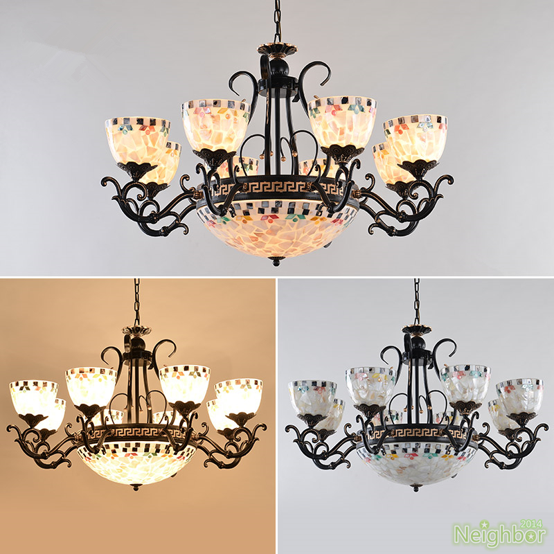 Details About Mediterranean Style Chandeliers Suspension Hanging Light Led Black Pendant Lamp