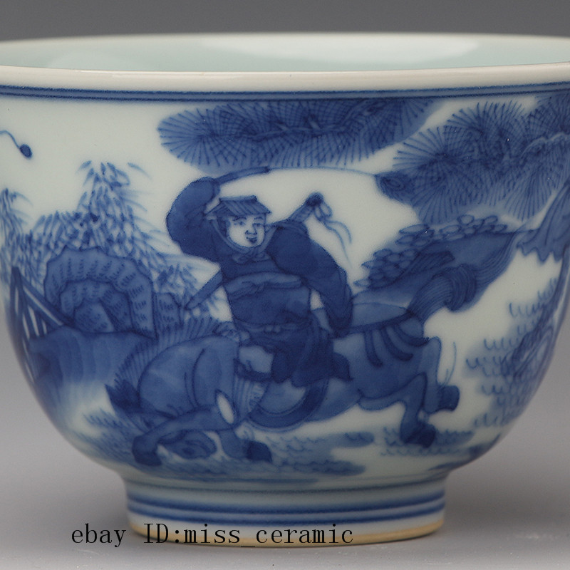 China antique Porcelain Qing kangxi purple gongfu teacup bowl Collection