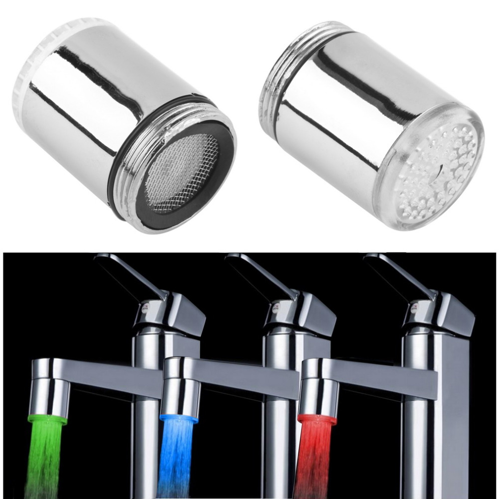 7 Colors Auto Changing Glow LED Water Faucet Tap For Kitchen Bathroom