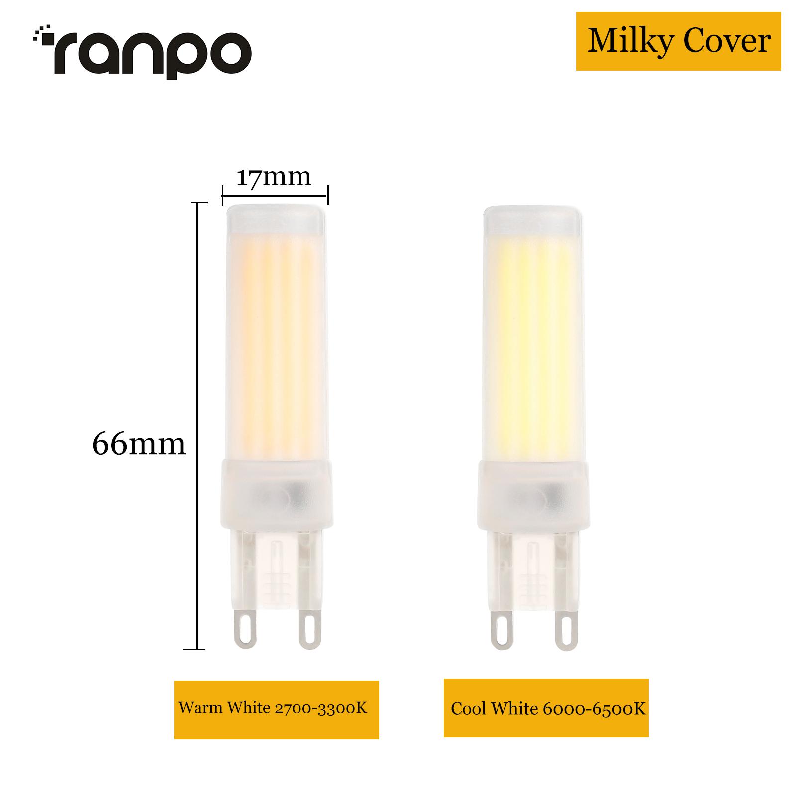 220V 3W 5W G9 Base LED COB Lamp Crystal Light Bulbs CRI/>80Ra Warm//Cool White C5