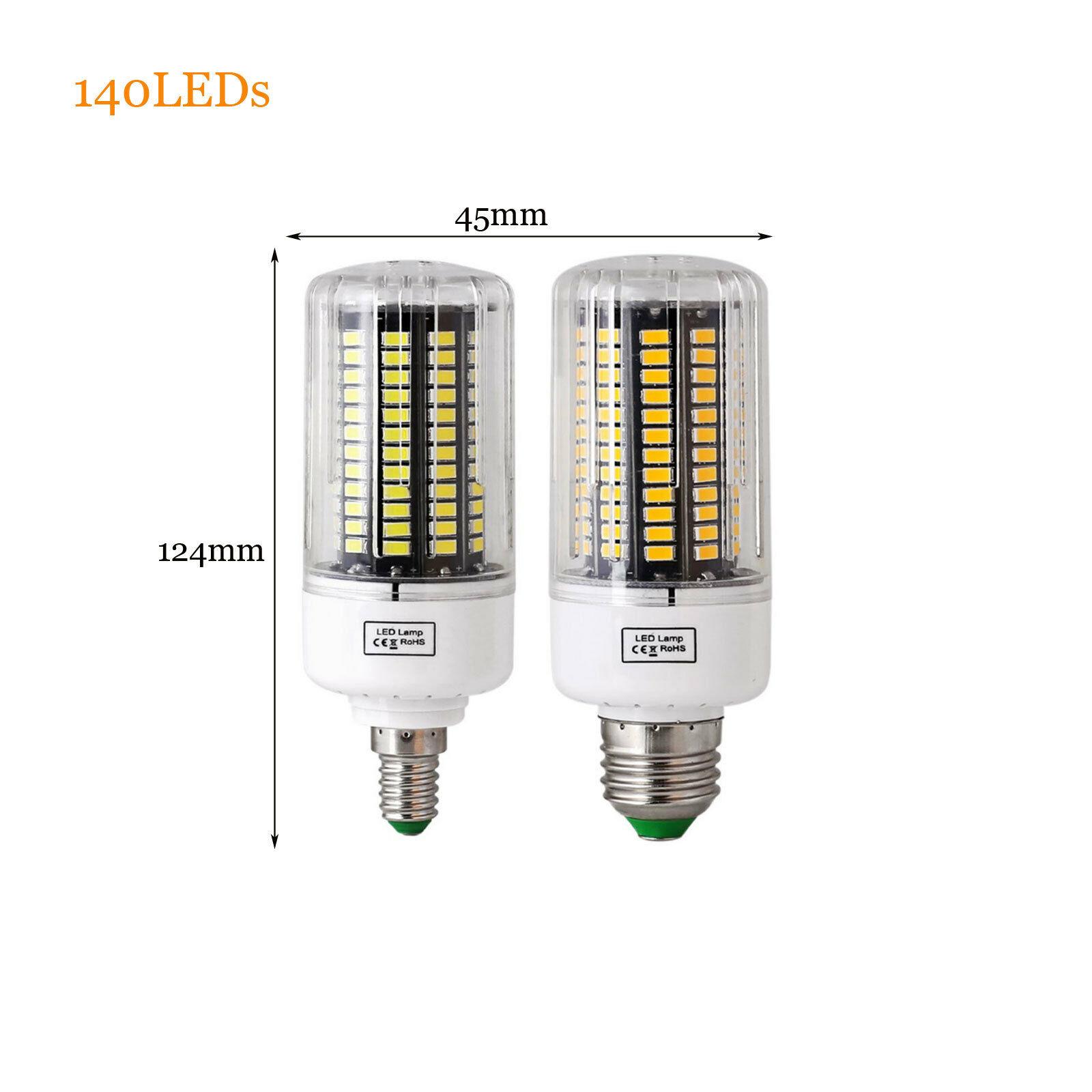 5736 DEL Maïs Ampoule Lampe E14 E27 B22 Cool Warm Blanc Laiteux 220//110V Light 3W-12W