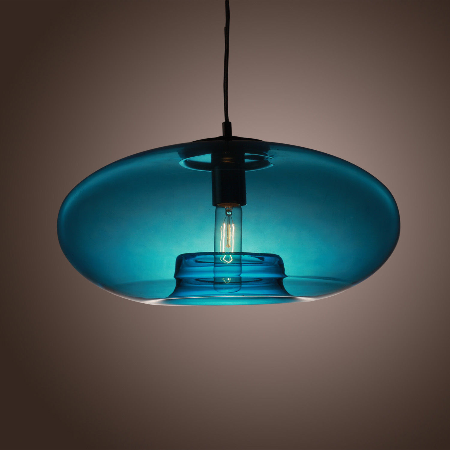 Hanging Lamp Light: Blue Glass Pendant Lamp Modern Bubble Design Ceiling