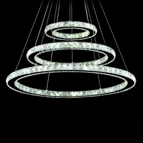 Modern 3 Tier Led Ring Chandelier Pendant Lamp Ceiling: 3 Tiers Ring Modern Chandelier Ceiling Light LED Pendant