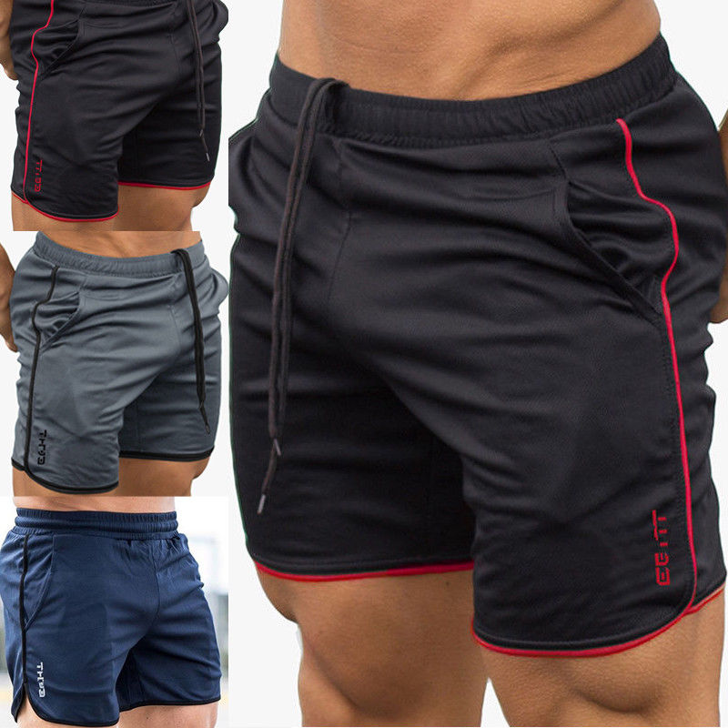 Men/'s Casual Gym Shorts Training Running Sport Workout Jogging Pants Trousers