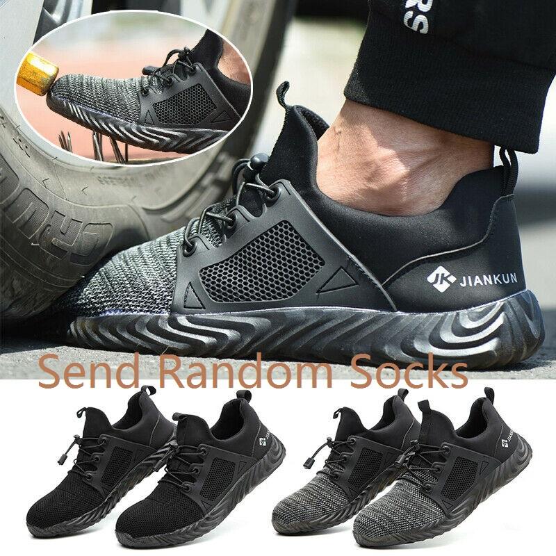 Men Safety Work Shoes Indestructible Steel Toe Cap Ventilation Bulletproof Boots