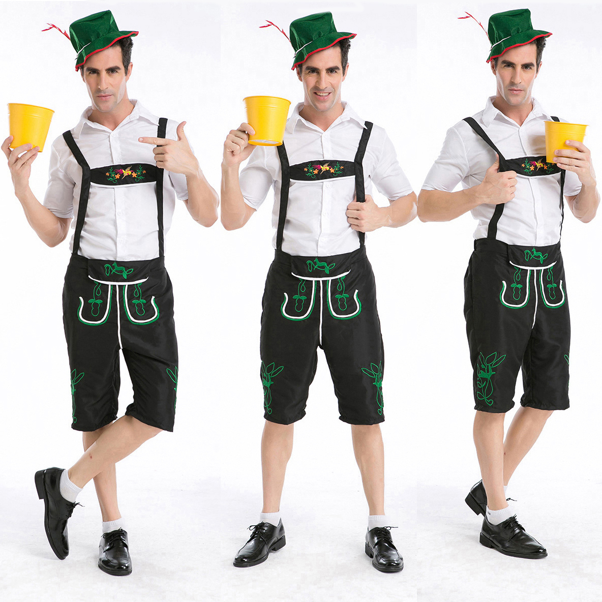 2d16b0c5004 Details about Mens Lederhosen Oktoberfest Bavarian German Beer Festival  Costume Fancy Outfit