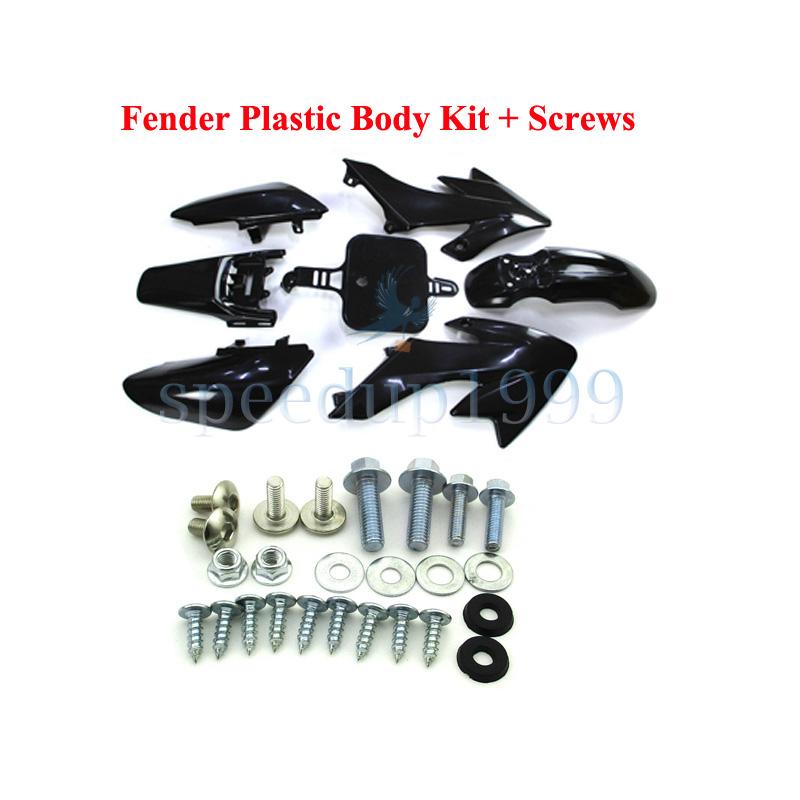 Pink Plastic Fairing Fender Body Kits Screws For Honda XR50 CRF50 Pit Dirt Bike