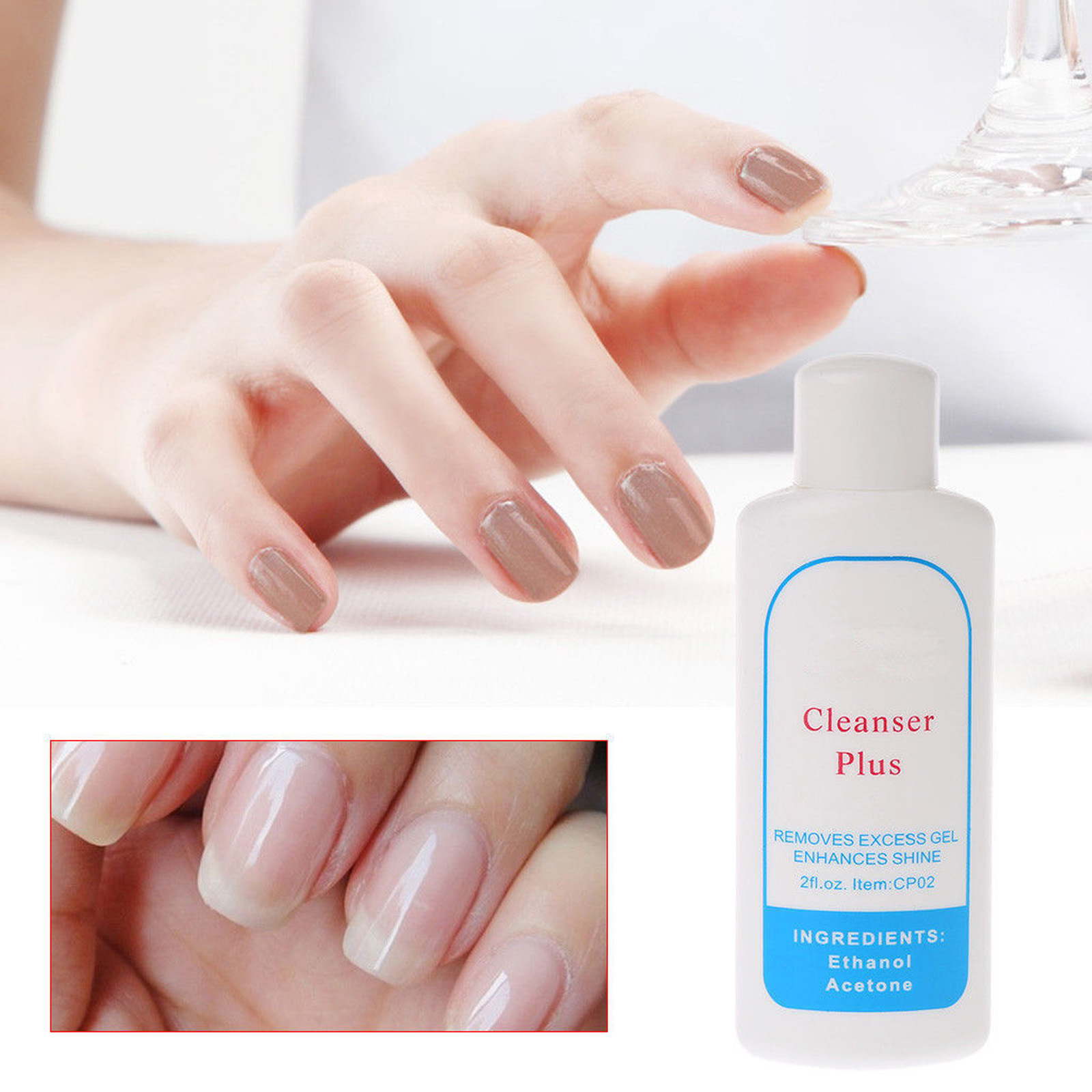 UV Gel Nail Art DIY Excess Gel Remover cleanser plus Cleaning ...