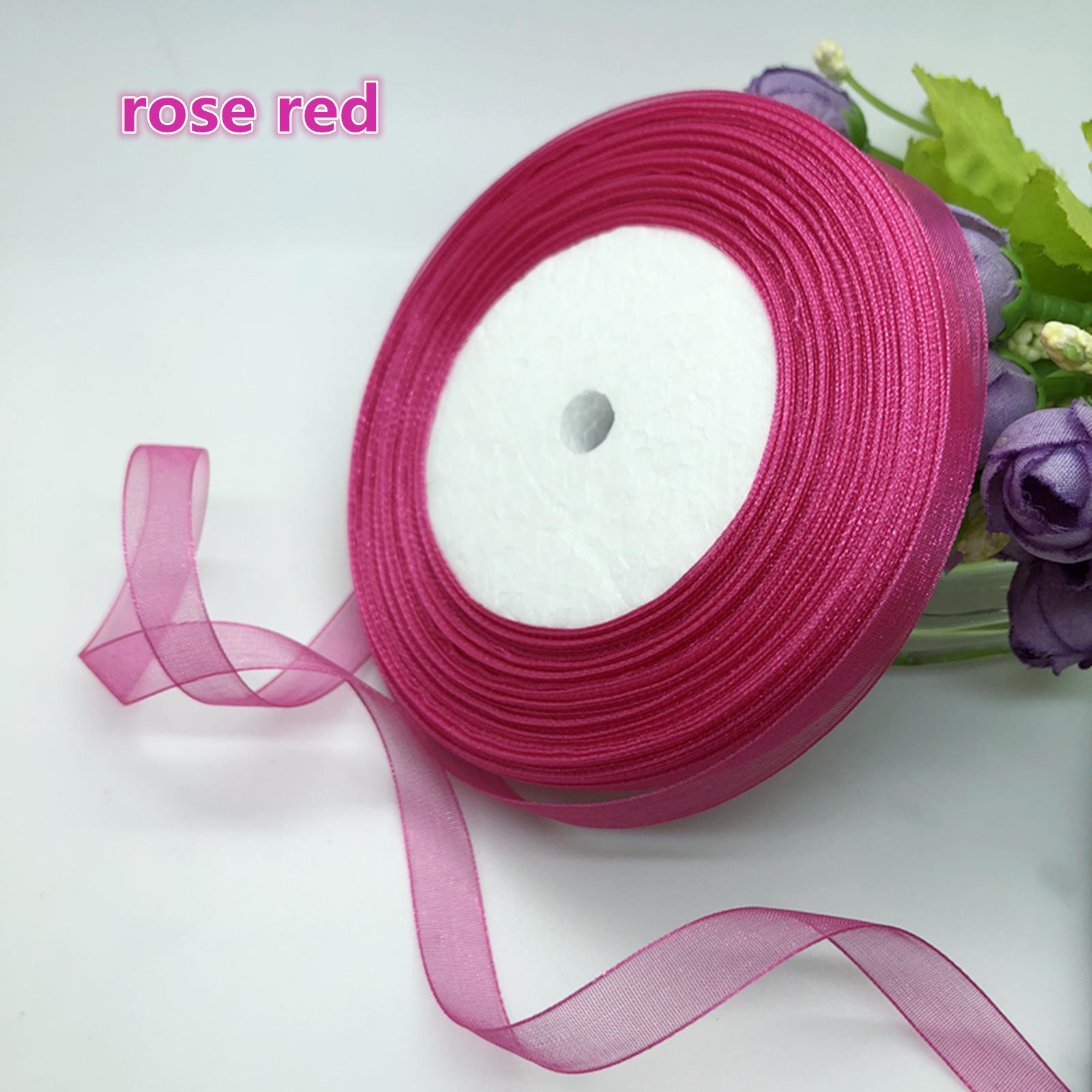 "50 Yards 3//8/"" 10mm Sizes Satin Edge Sheer Organza Ribbon Bow Craft"
