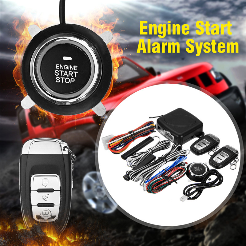 12v Car Alarm System Keyless Entry Push Button Start: Car SUV Keyless Entry Engine Start Alarm System Push