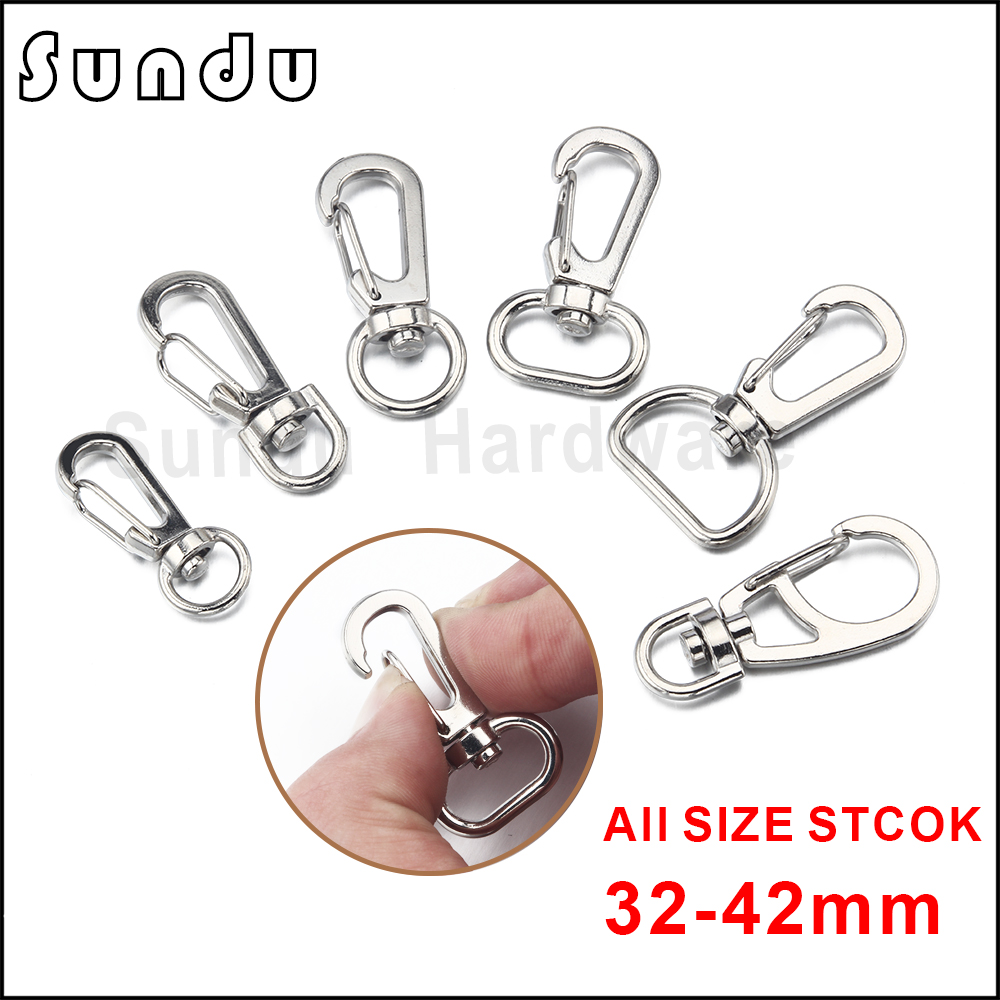 Lobster Swivel Clasps Clips Bag Key Ring Hook Findings Keychain 2-100PCS x