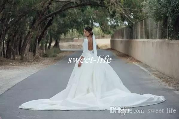 Champagne Bridal Gown 2018 Country Wedding Dresses with Detachable ...