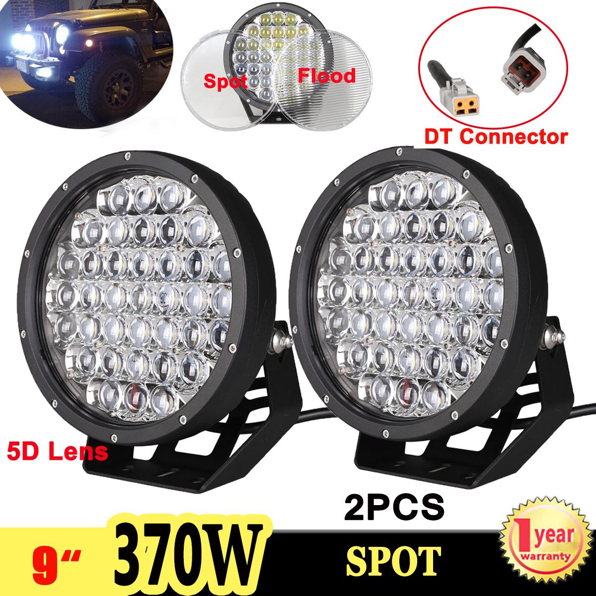 "2X Black Lens Cover For 6/"" 70W Spot Flood LED Work Light Driving Lamp Off Road"