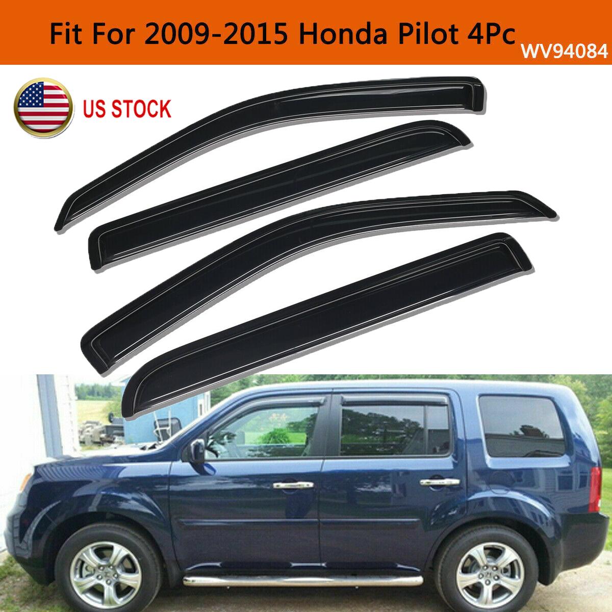 for Honda Pilot 2009-2015 Vent Shade Window Visor Sun Wind Rain Guard Smoke US