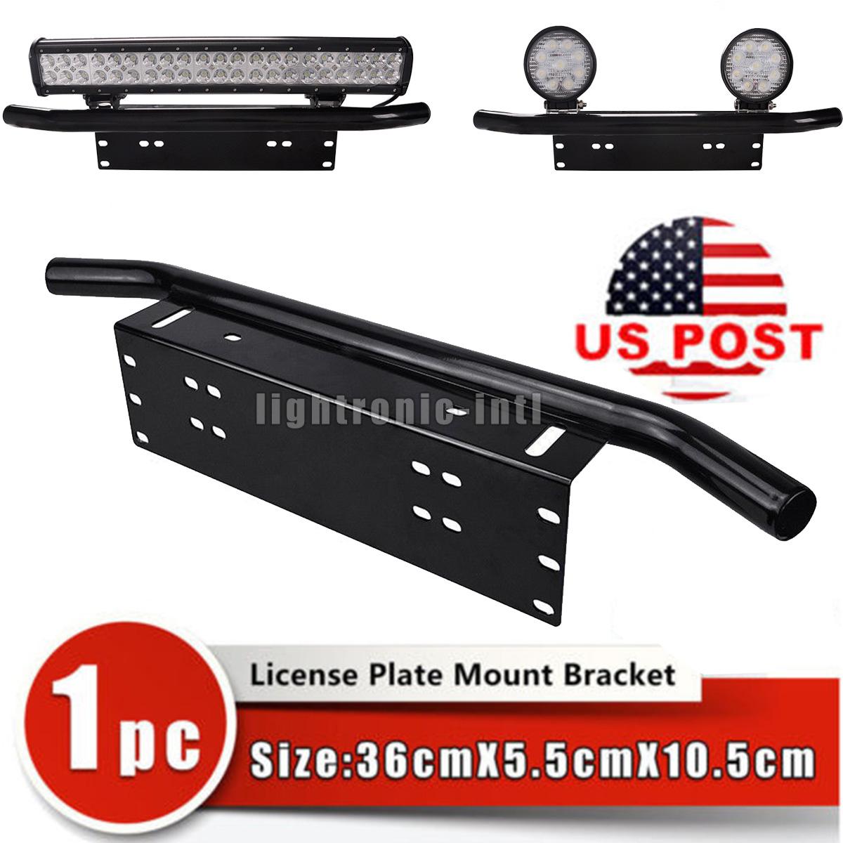 Front Bumper License Plate Mount Bracket Holder for Offroad Light//LED Light Bar