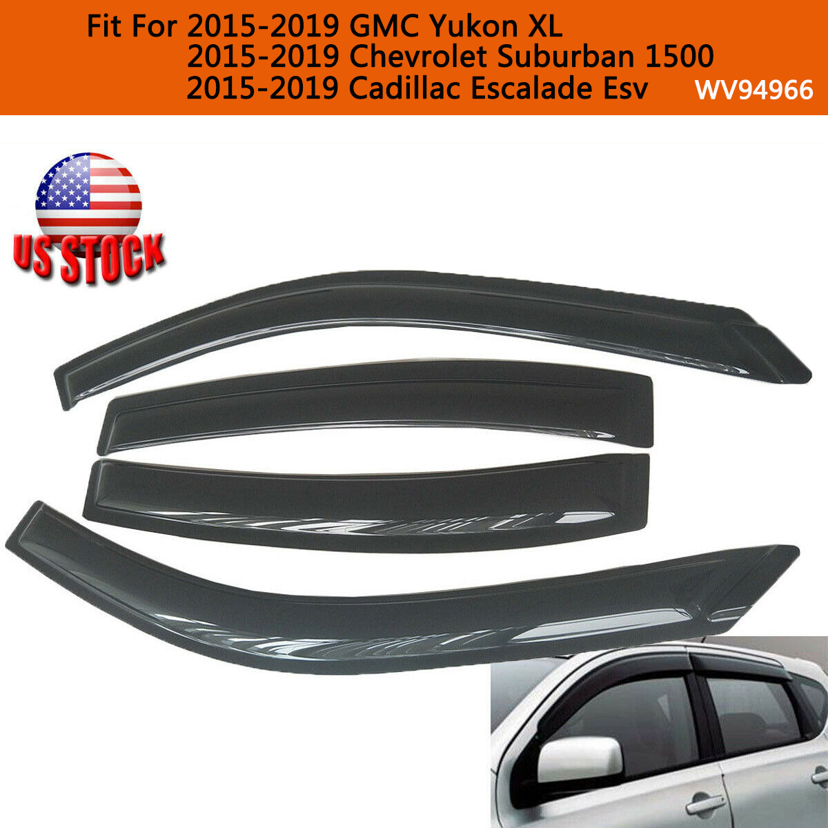 Window Visor Rain Guards For Chevy Suburban Cadillac