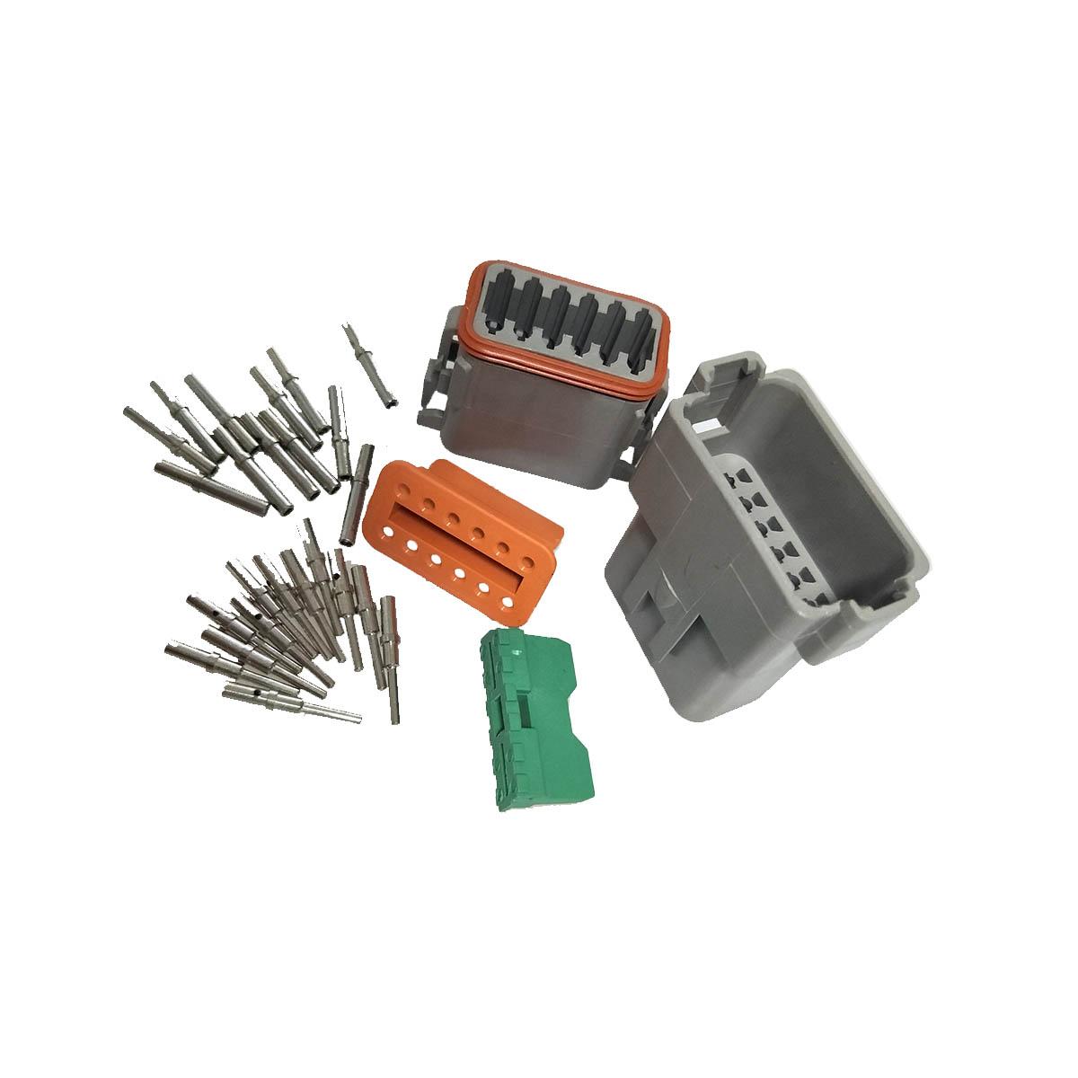 1 Set Deutsch Dt 12 Pin Electrical Connector Plug Kit 16