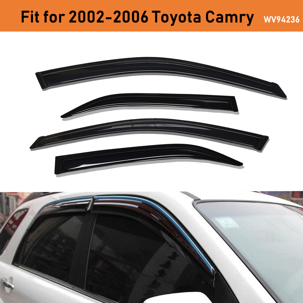 For Toyota 2002-2006 Camry SIDE WINDOW VISOR SHADE WIND RAIN GUARD DEFLECTOR SET