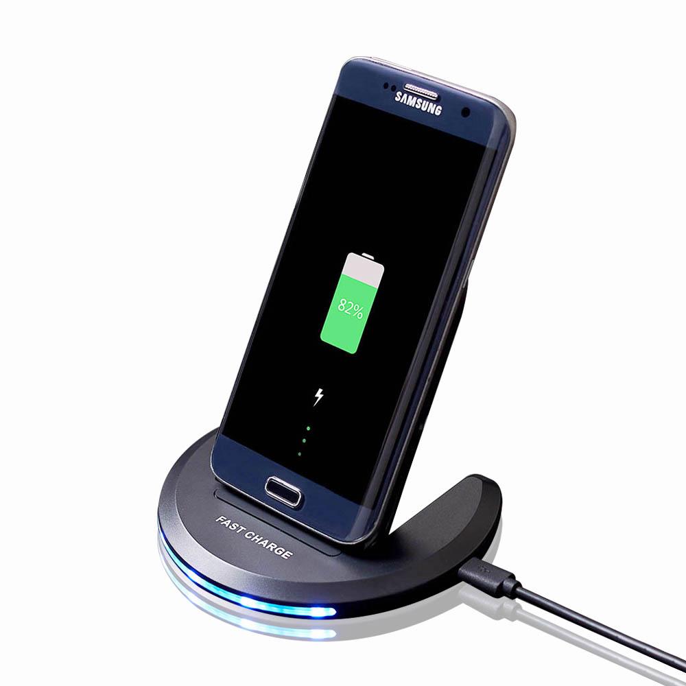 fdgao qi wireless charger induktive ladestation dock f r samsung galaxy s8 s9 ebay. Black Bedroom Furniture Sets. Home Design Ideas