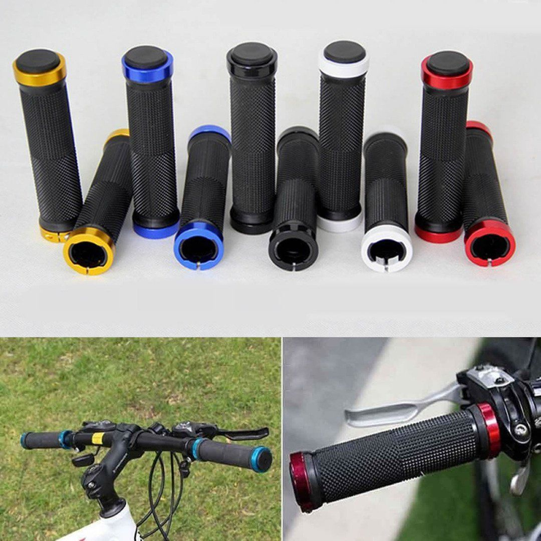 Double Lock on Grip BMX MTB Mountain Bike Bicycle Cycling Handle Bar Handlebar