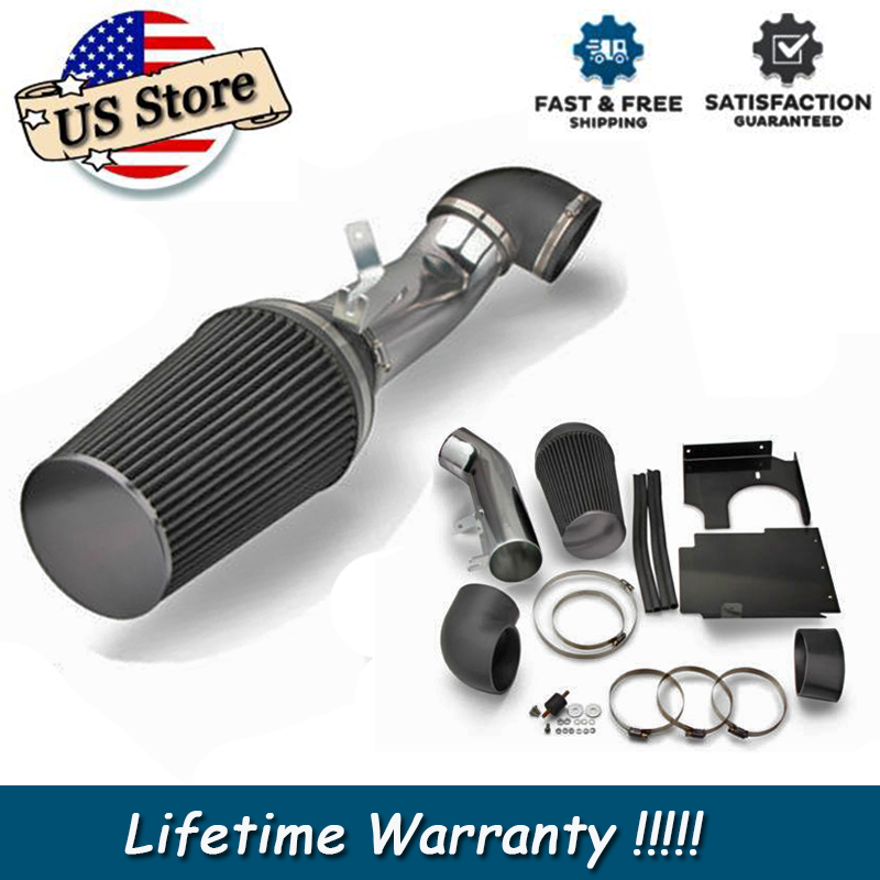 4 U0026quot  Cold Air Black Filter Intake Heat Shield Pipe For Gmc