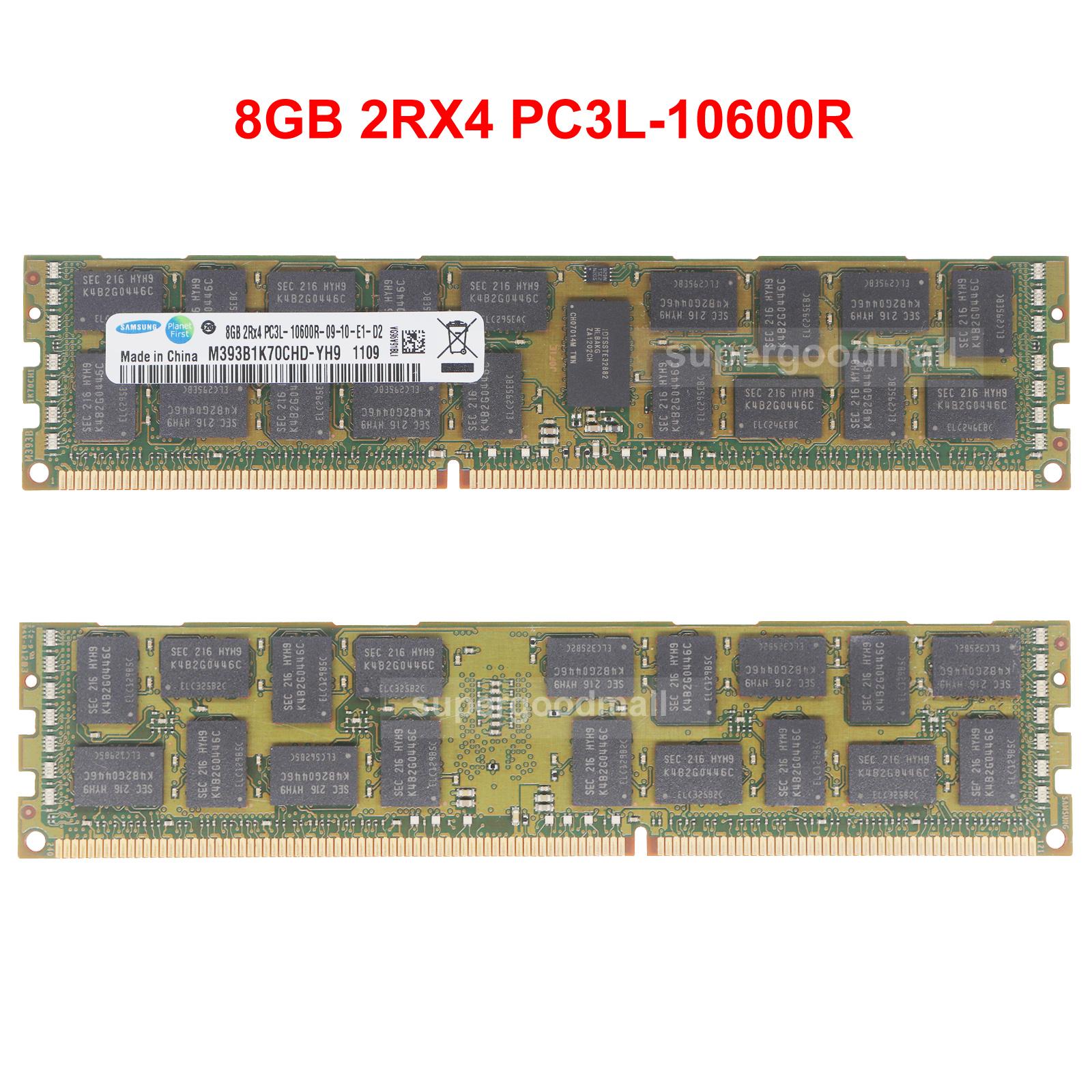 Hynix 8GB 2RX4 PC3L-10600R DDR3L-1333MHZ 240Pin ECC REG Server Memory Module