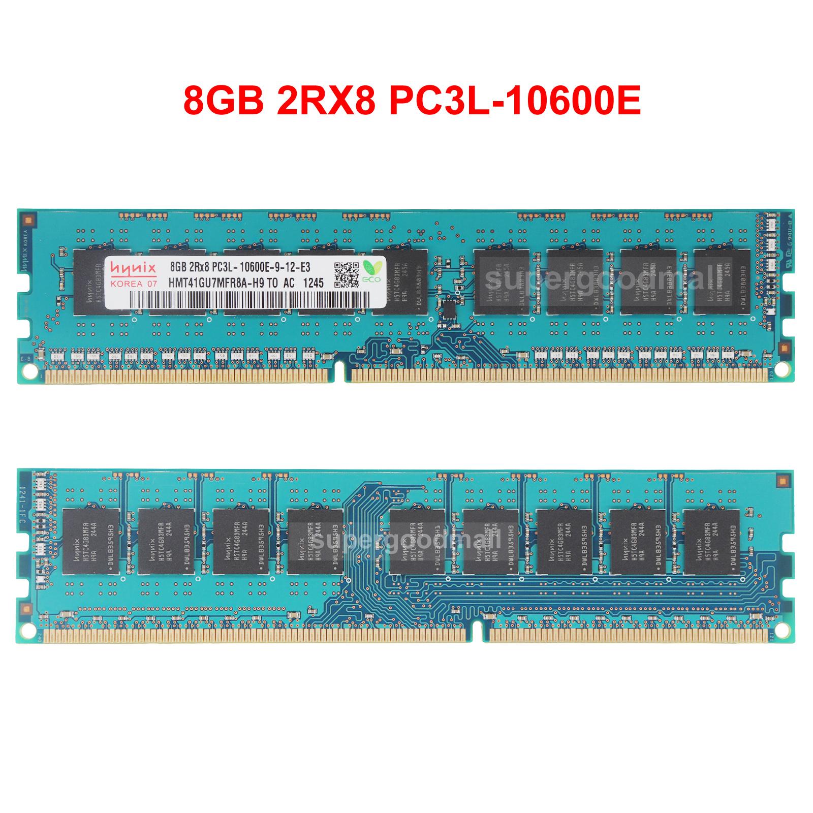 Hynix 4GB DDR3L 1333Mhz 2Rx8 PC3L-10600E 240-PIN ECC Unbuffered Memory Ram Sdimm