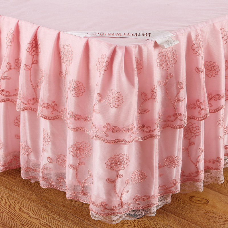 Korea Queen Size Lace Sheets Bed Skirt Cover Fitted Student Dormitory Valance